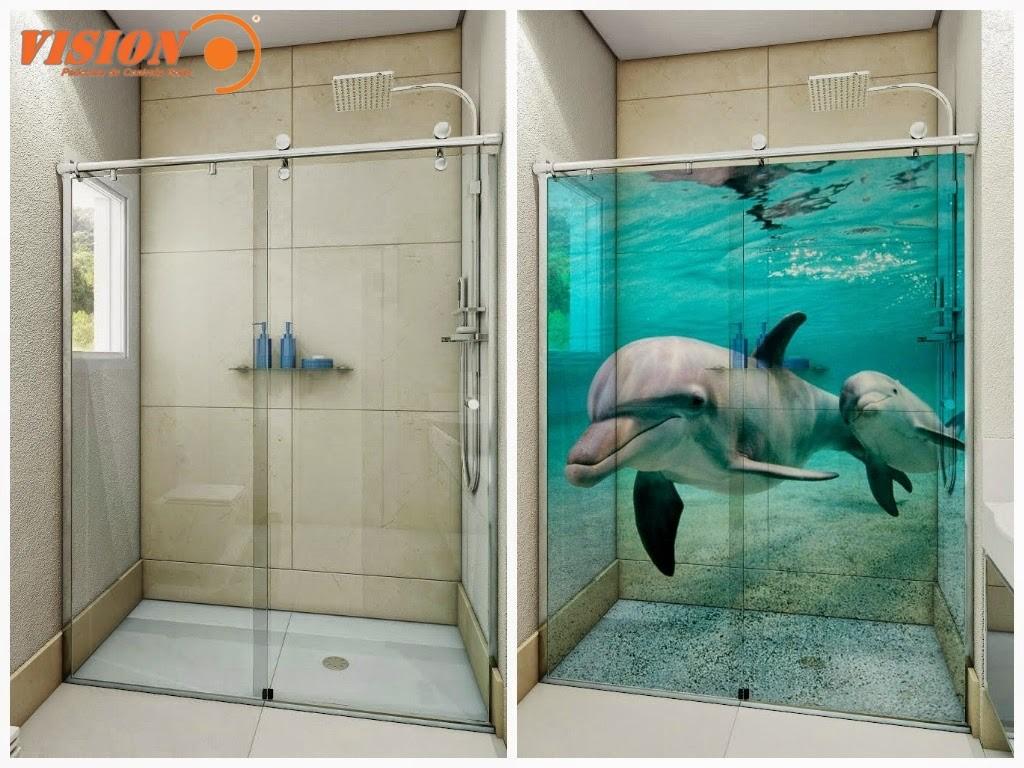Películas para Box de Banheiro Vision Películas #1AB1AE 1024x768 Banheiro Com Box De Cortina